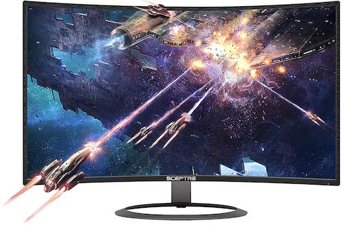 Sceptre C278W-1920R Curved Monitor - best curved monitors under $200