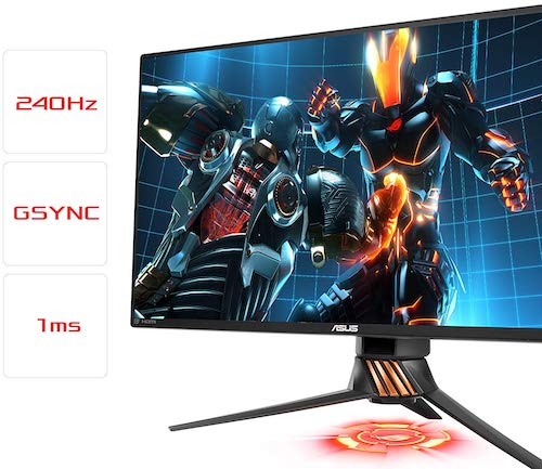 ASUS ROG Swift PG258Q - best 240hz monitor gsync