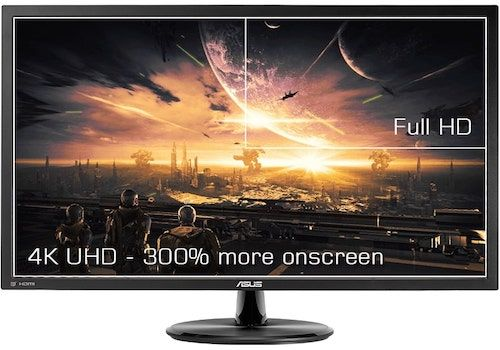 ASUS VP28UQG - best 4k monitor for ps4 pro