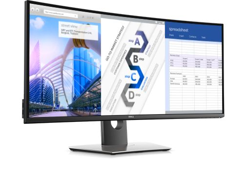 Dell UltraSharp U3417W - curved monitor for video editing