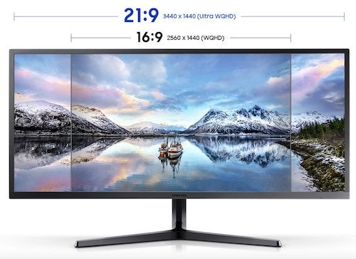 Samsung LS34J550W Ultrawide Curved Monitor For Video Editing and Gaming